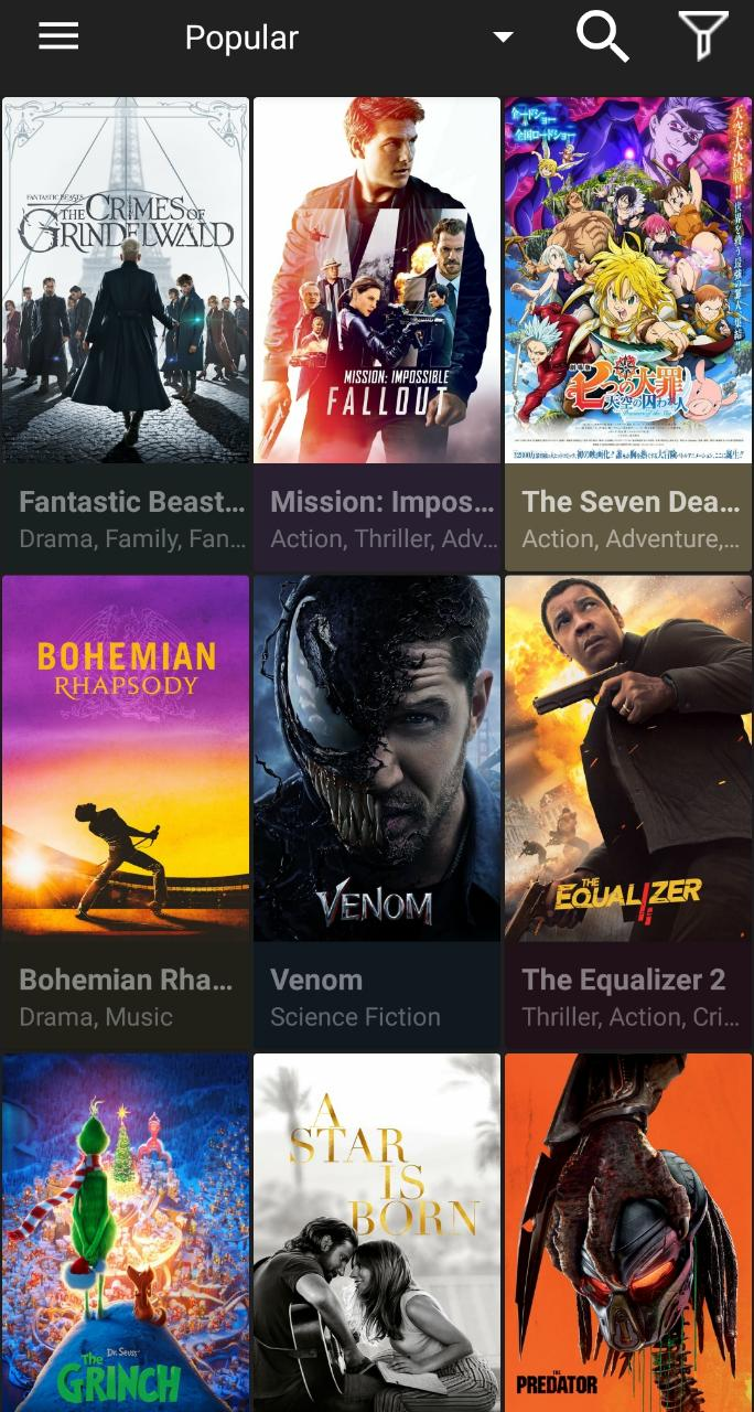 updated cinema apk on android