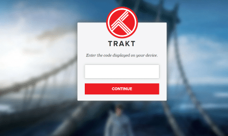 Login Trakt.TV - Cinema HD