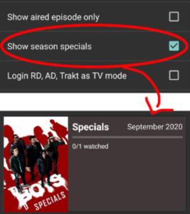 Season Specials - Cinema HD