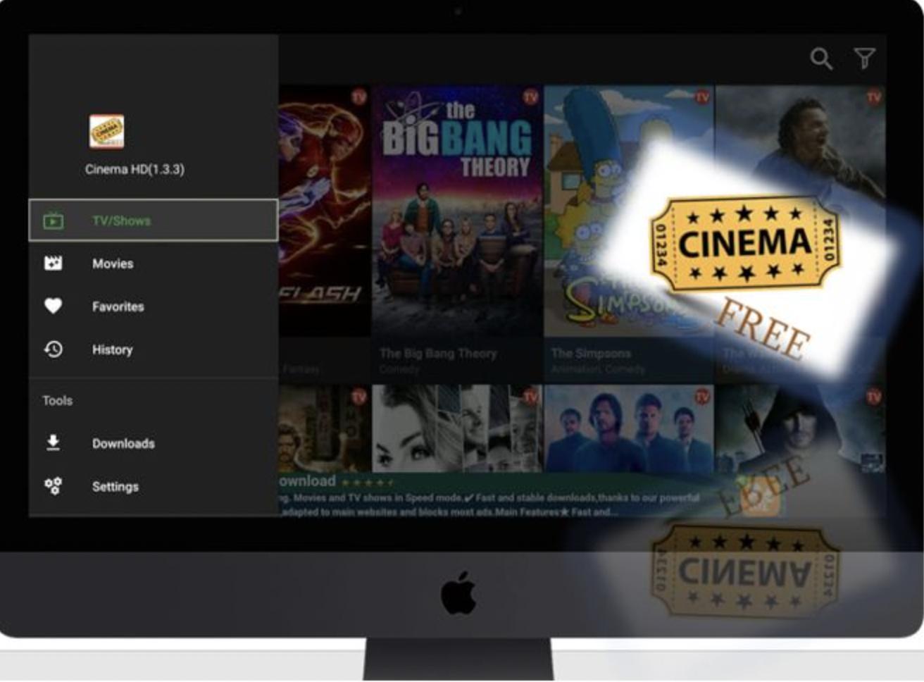 Cinema HD APK for Mac