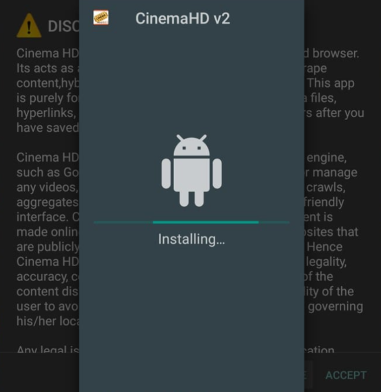installing CINEMA HD