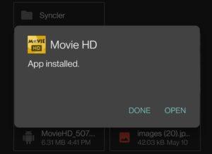 movie-hd INSTALLED